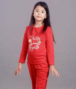 girl knit-shirt long sleeve