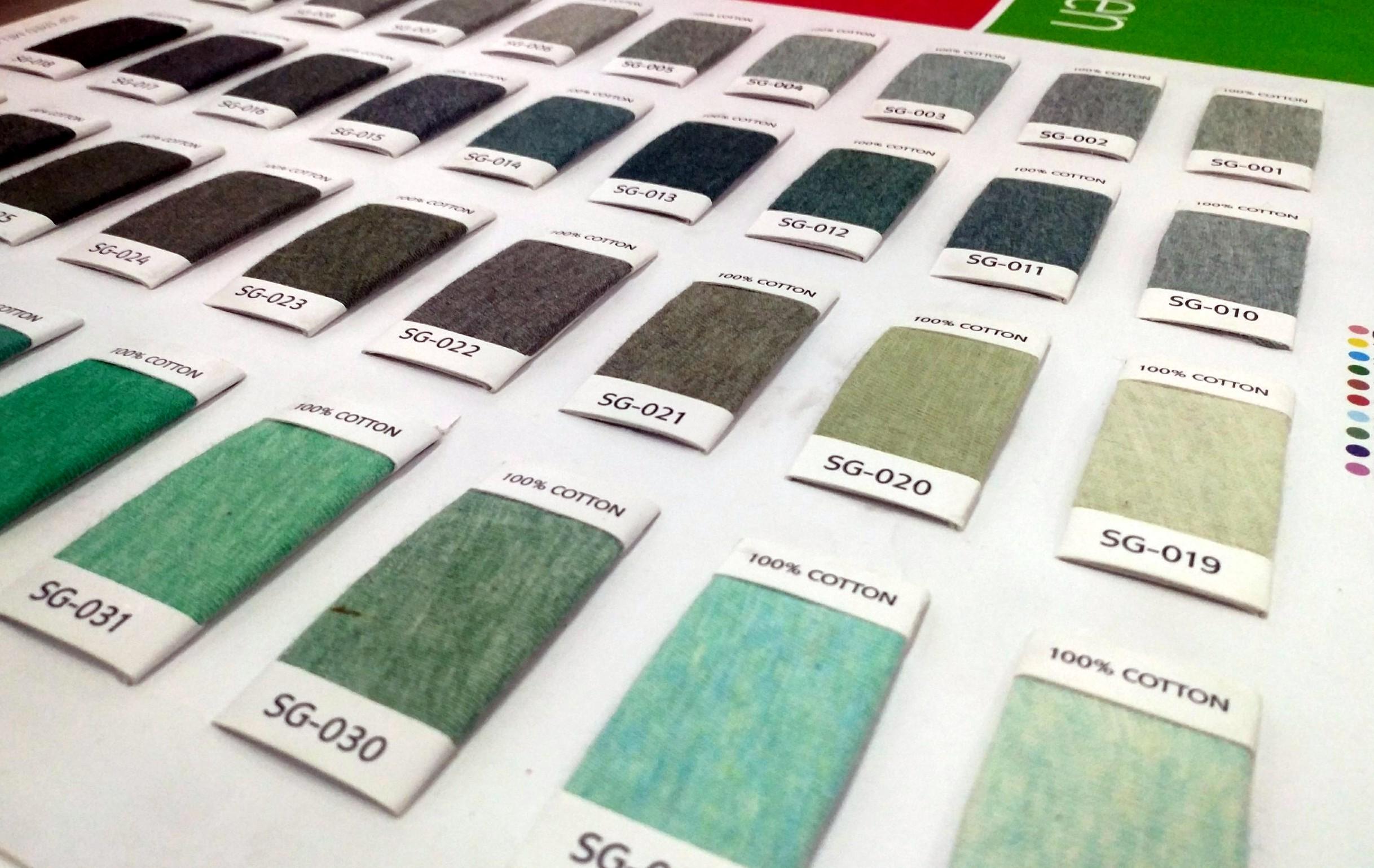 Bảng màu vải dùng sợi melange